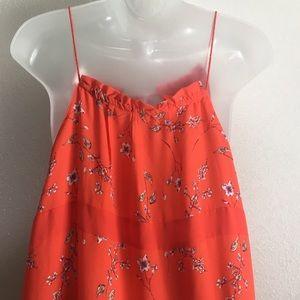 GAP Dresses - GAP orange prairie/boho maxi dress. Size Large